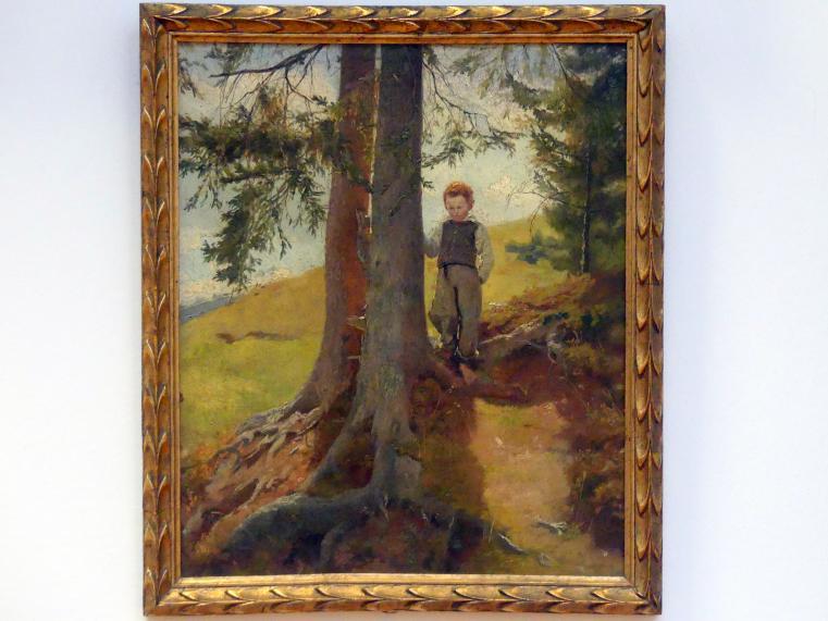 Hans Thoma: Bauernjunge am Waldrand, um 1862