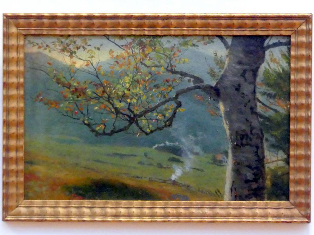 Hans Thoma: Herbstlicher Baum vor Wiesental, um 1862