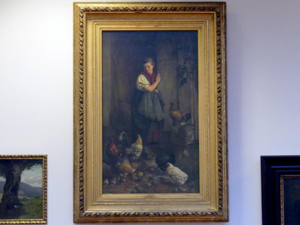 Hans Thoma: Hühnerfütterung, 1867