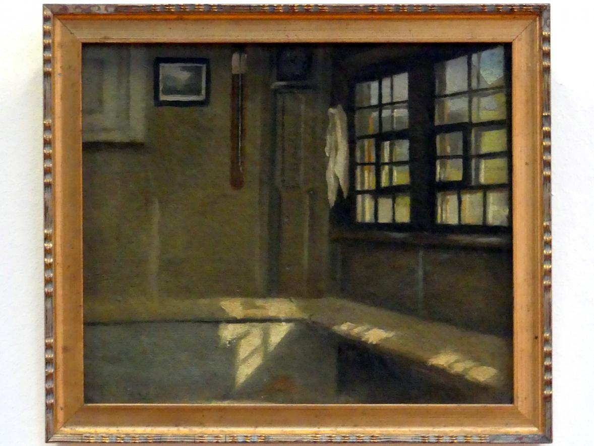Hans Thoma: Zimmerecke in Bauernhaus, 1861