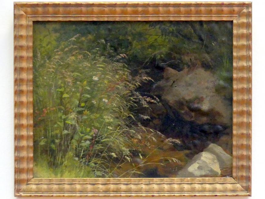 Hans Thoma: Gräser am Bachrand, 1862