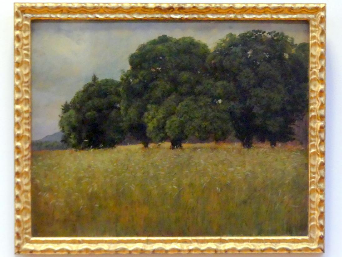 Hans Thoma: Kornfeld mit Laubbäumen, 1880