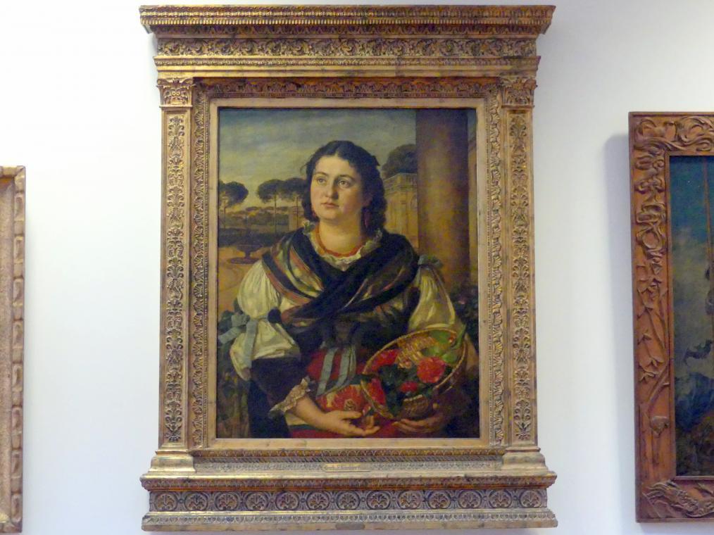 "Hans Thoma: ""La Giardiniera"" (Die Gärtnerin), 1881"