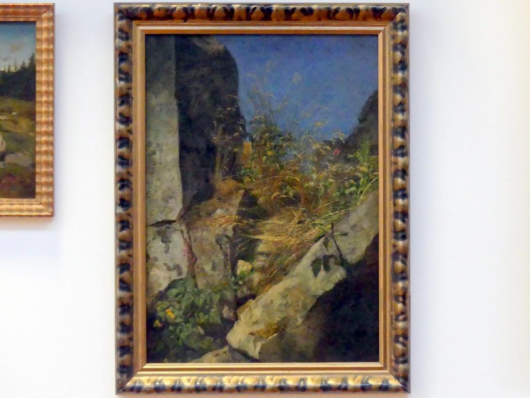 Hans Thoma: Gräser zwischen Felsen, 1863