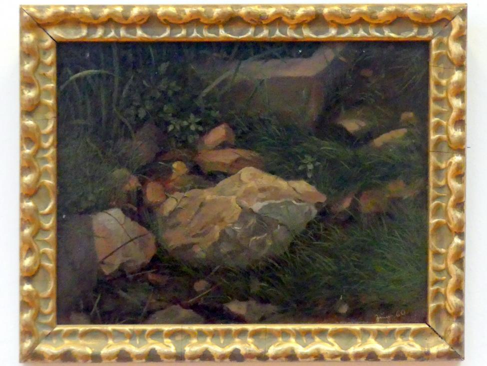 Hans Thoma: Steine im Gras, 1860