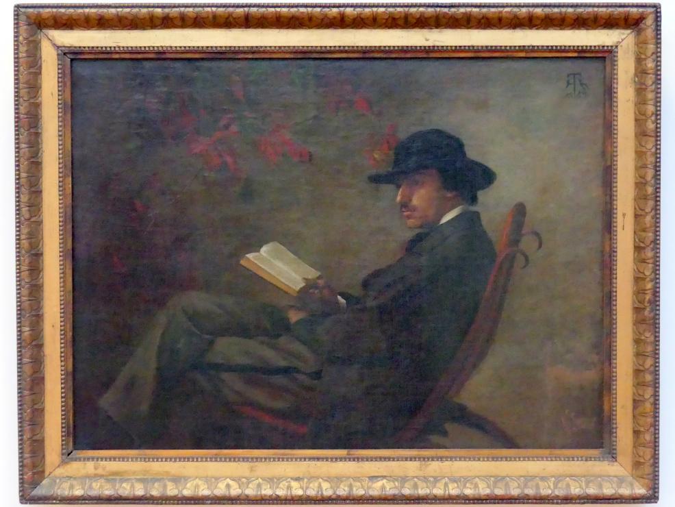Hans Thoma: Bildnis des Malers Wilhelm Steinhausen, 1869