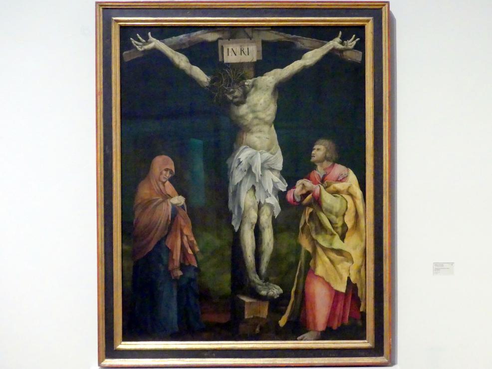 Matthias Grünewald (Mathis Gothart-Nithart): Christus am Kreuz zwischen Maria und Johannes, um 1523 - 1524