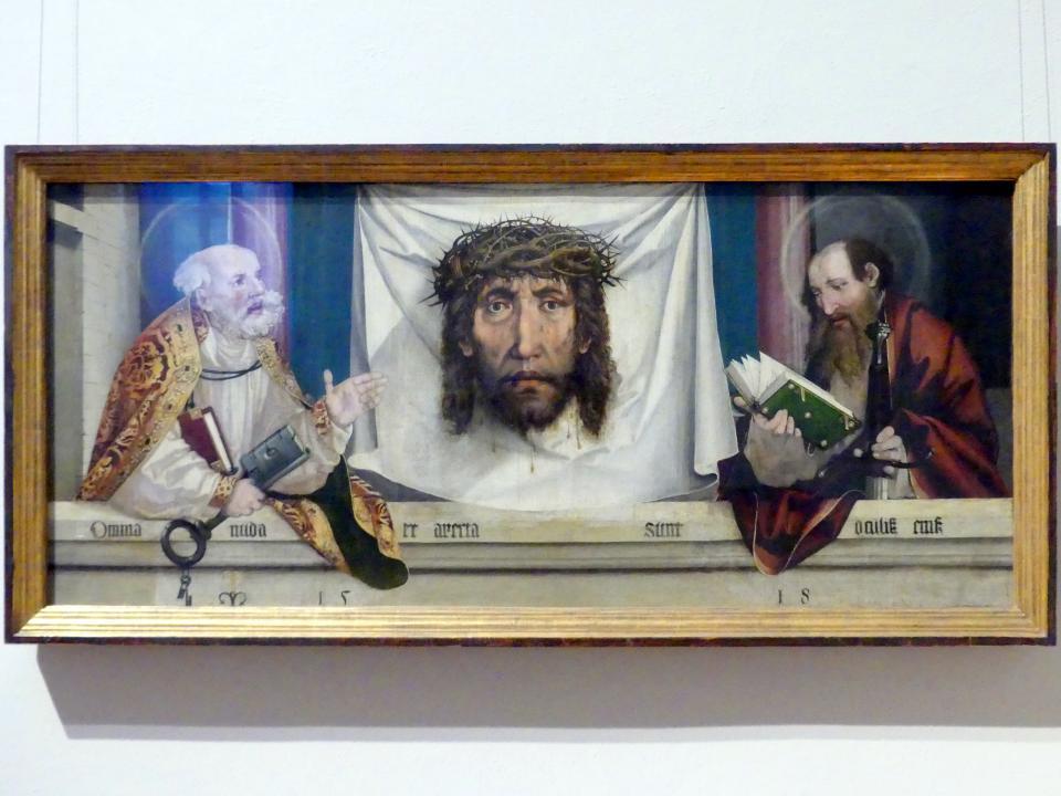 Martin Schaffner: Die Heiligen Petrus und Paulus mit dem Schweißtuch der heiligen Veronika, 1518