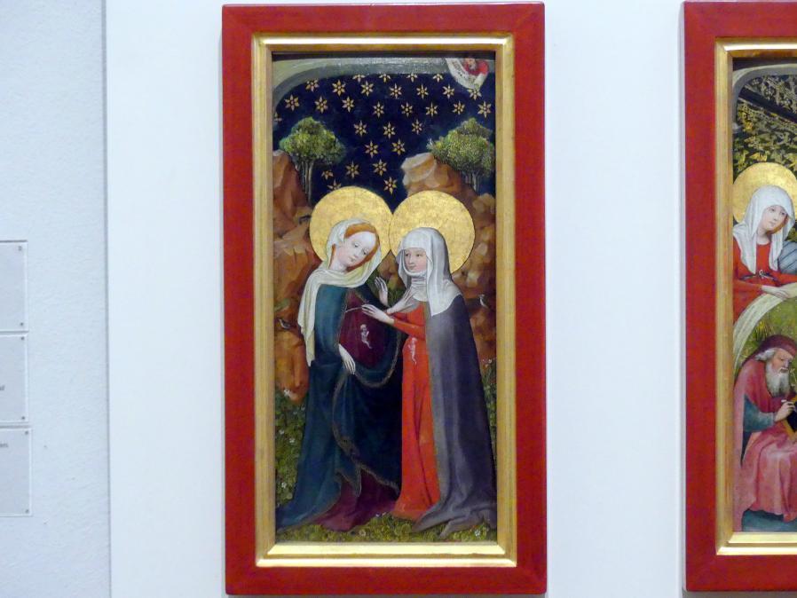 Oberrheinischer Meister: Die Heimsuchung Mariä, um 1410 - 1420