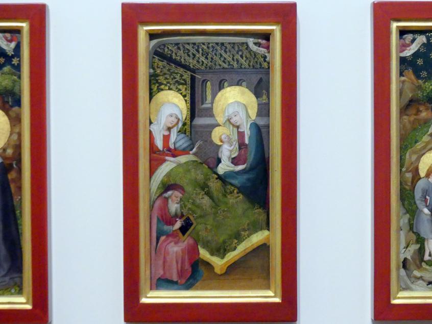Oberrheinischer Meister: Die Geburt Johannes' des Täufers, um 1410 - 1420