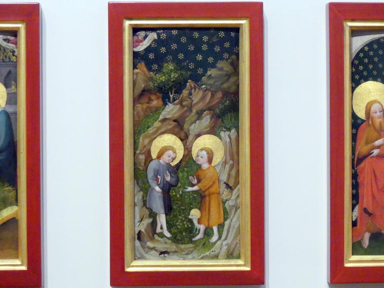 Oberrheinischer Meister: Die Begegnung der Knaben Jesus und Johannes der Täufer, um 1410 - 1420