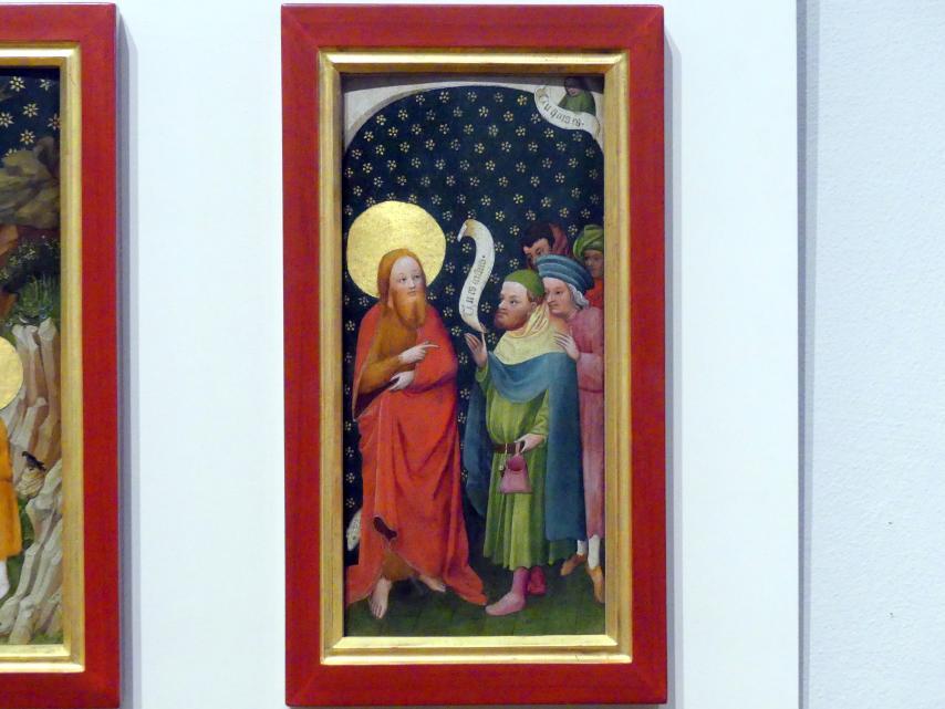 Oberrheinischer Meister: Die Befragung Johannes' des Täufers durch Priester und Leviten, um 1410 - 1420