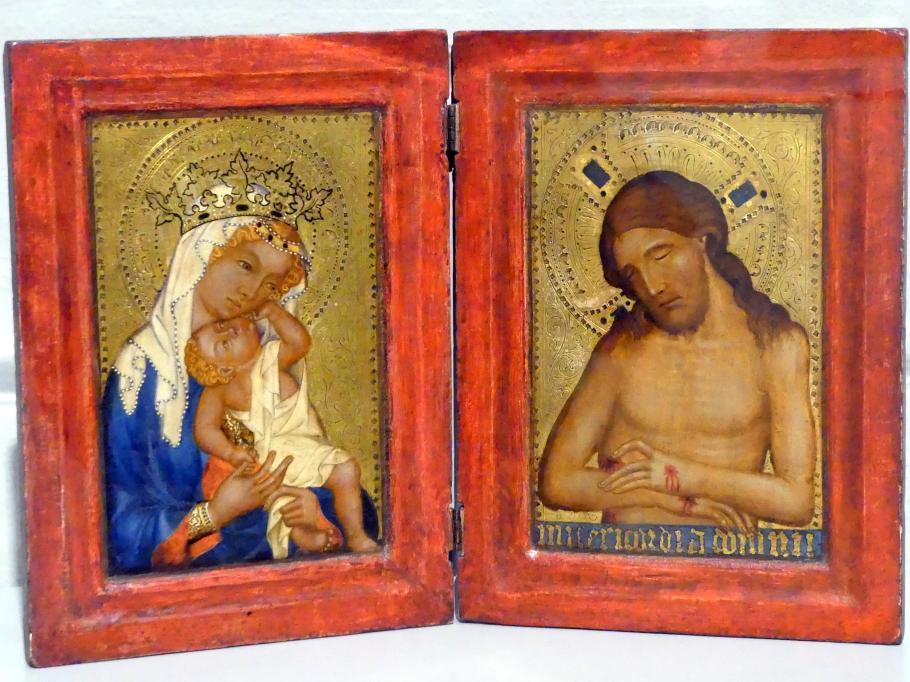 Diptychon: Maria mit dem Kinde und Christus als Schmerzensmann, um 1360