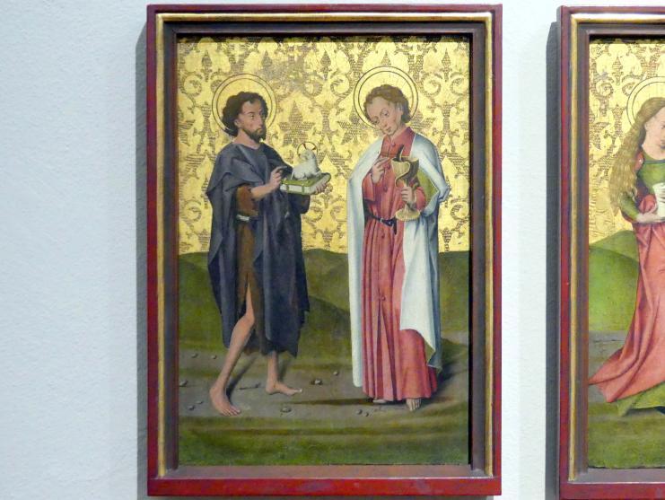 Friedrich Herlin: Die Heiligen Johannes der Täufer und Johannes der Evangelist, 1460 - 1461