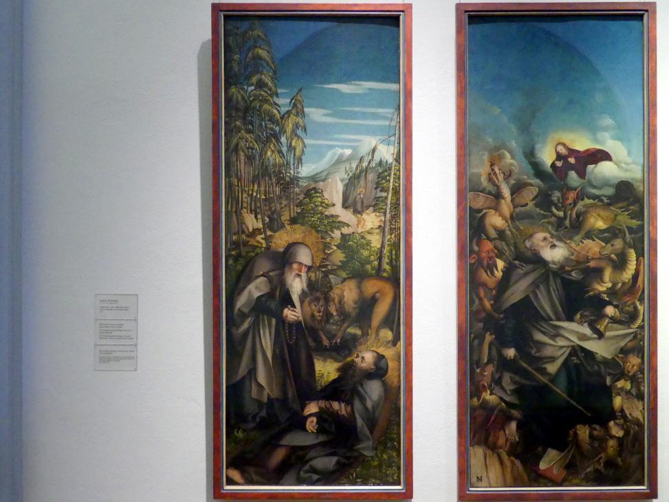 Martin Schaffner: Der heilige Antonius bestattet den heiligen Paulus Eremita, 1517