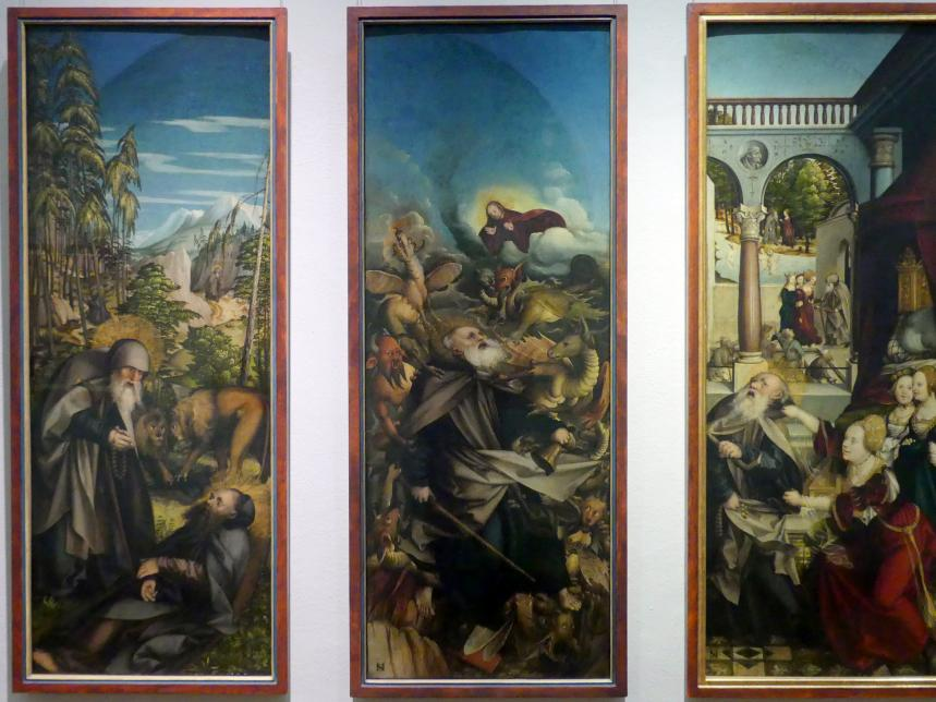 Martin Schaffner: Die Versuchung des heiligen Antonius durch Dämonen, 1517