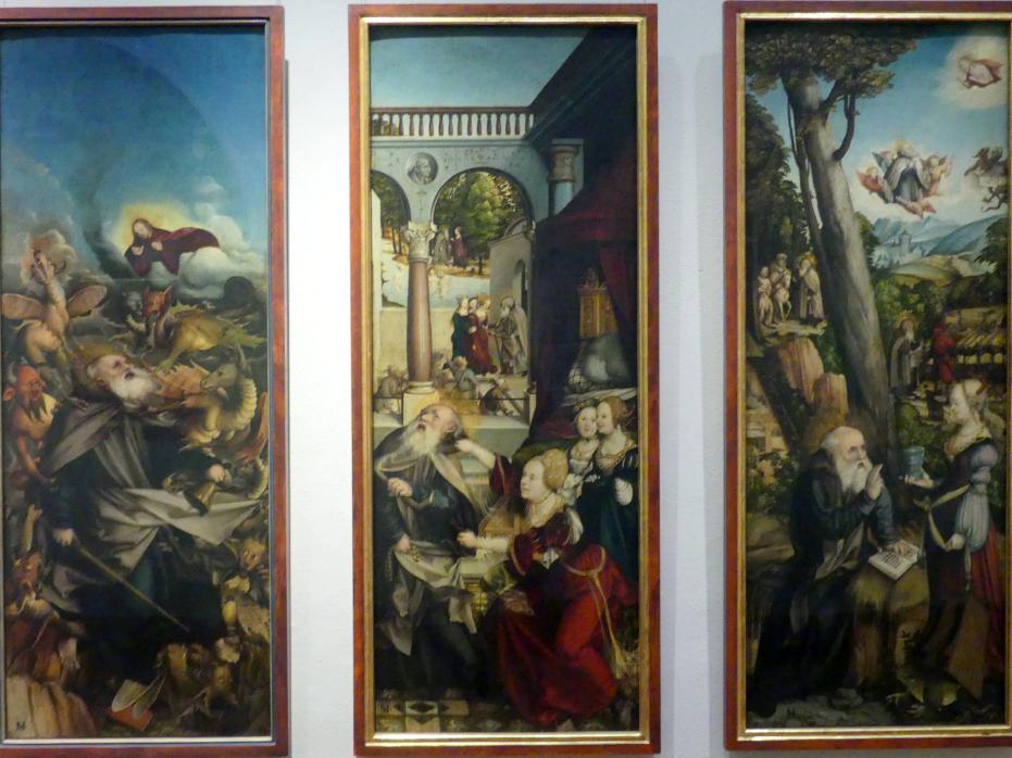 Martin Schaffner: Die Versuchung des heiligen Antonius durch den Teufel in Gestalt einer Königin, 1517