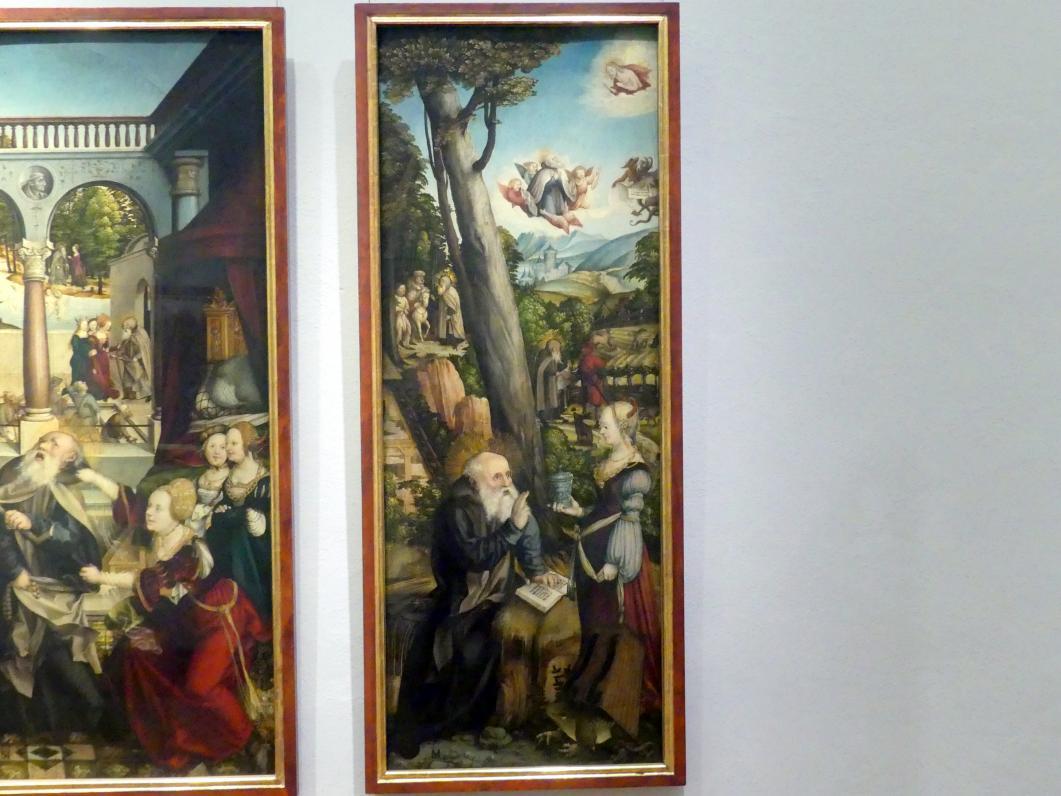 Martin Schaffner: Der heilige Antonius, versucht vom Teufel in Frauengestalt, 1517