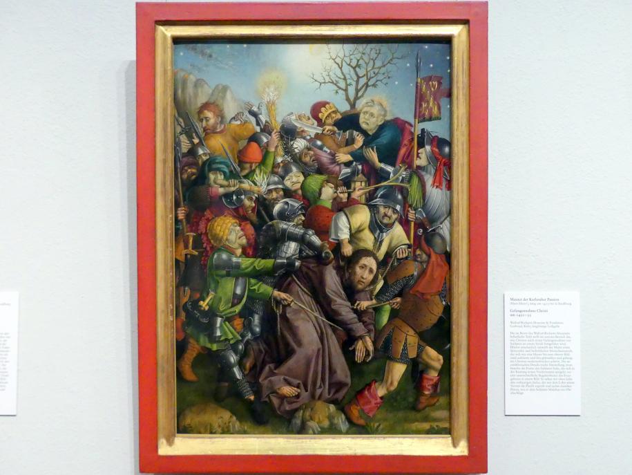 Meister der Karlsruher Passion: Gefangennahme Christi, um 1450 - 1455