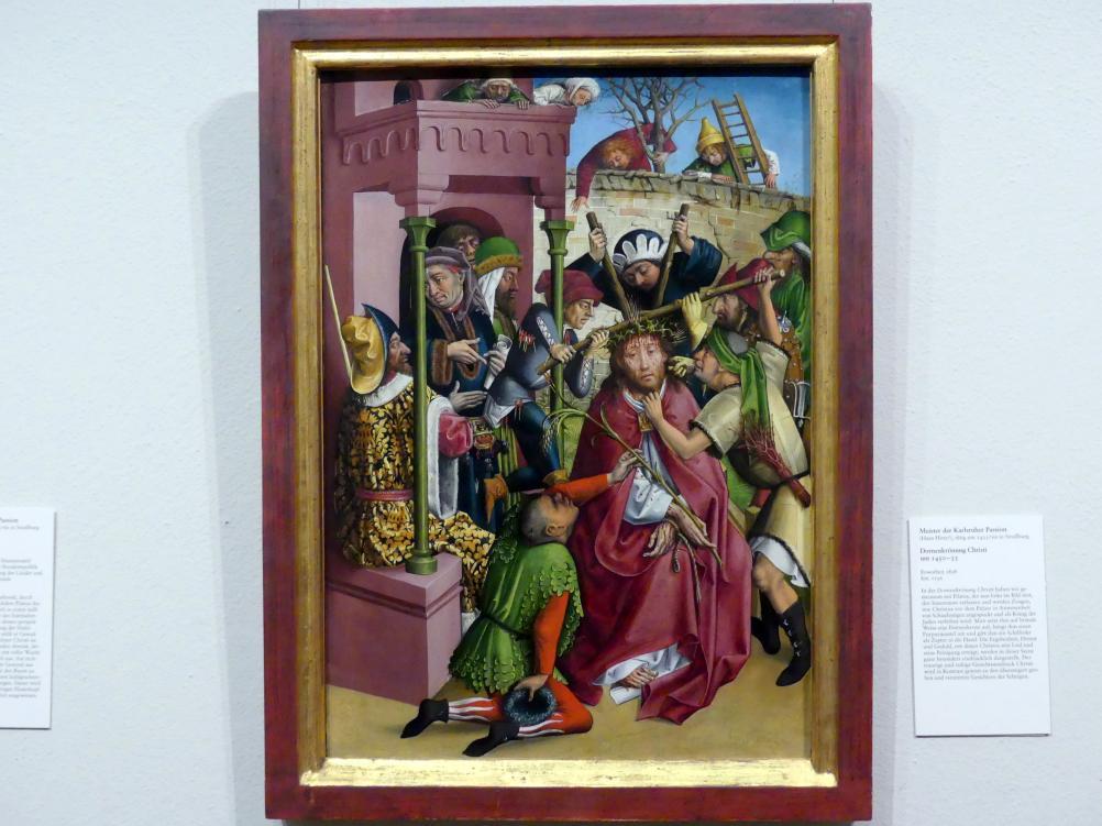 Meister der Karlsruher Passion: Dornenkrönung Christi, um 1450 - 1455