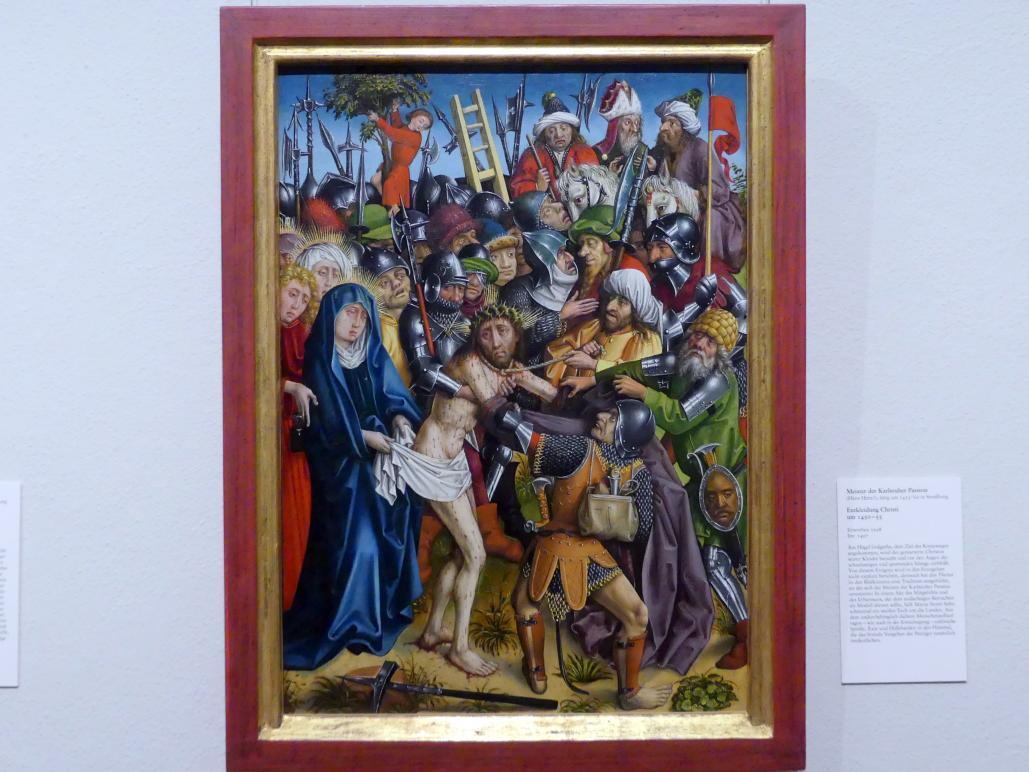 Meister der Karlsruher Passion: Entkleidung Christi, um 1450 - 1455