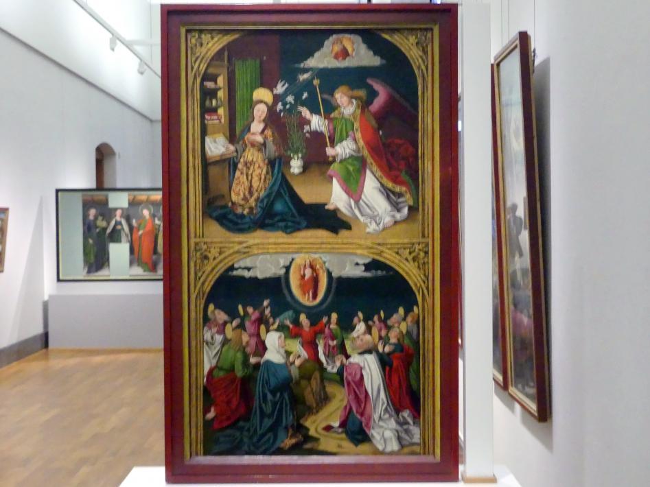 Ulrich Apt der Ältere: Die Verkündigung an Maria / Die Himmelfahrt Christi, 1510