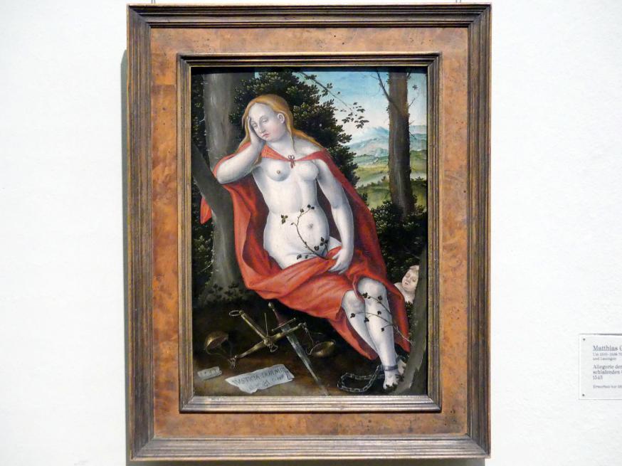 Matthias Gerung: Allegorie der gefesselt schlafenden Gerechtigkeit, 1543