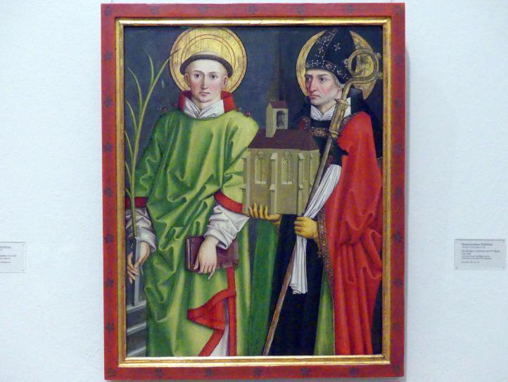 Bartholomäus Zeitblom: Die Heiligen Laurentius und Wolfgang, um 1485
