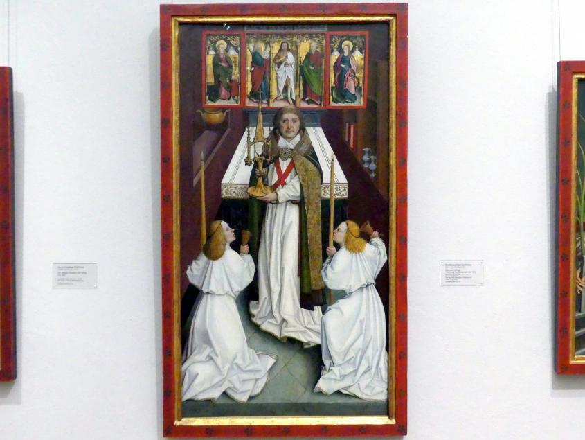 Bartholomäus Zeitblom: Segensspendung, Verehrung der Eucharistie, um 1495