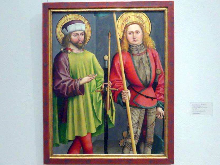 Bartholomäus Zeitblom: Die Heiligen Sebastian und Georg, um 1485
