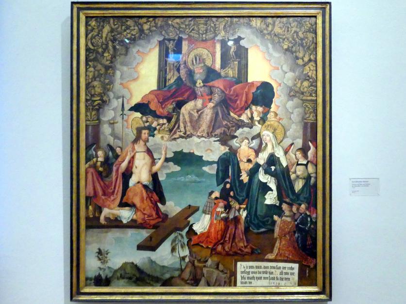 Christus und Maria als Fürbitter der Menschheit vor Gottvater, 1519