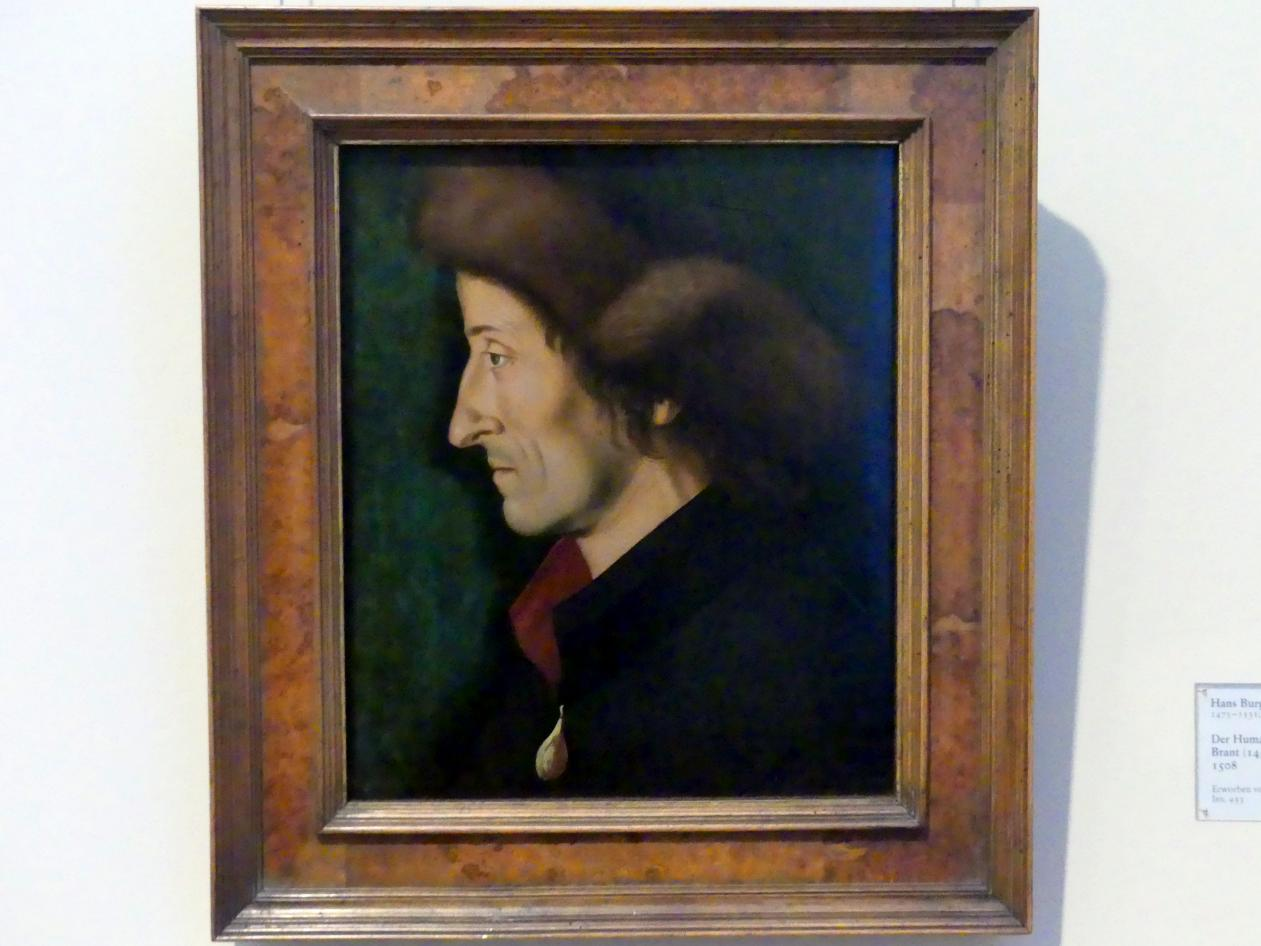 Hans Burgkmair der Ältere: Der Humanist und Dichter Sebastian Brant (1458-1521), 1508