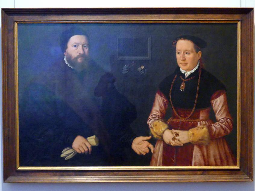 Nicolas Neufchâtel: Doppelbildnis des Nürnberger Patriziers Balthasar Dörrer und seiner zweiten Gattin Magdalena Bayerin, 1561