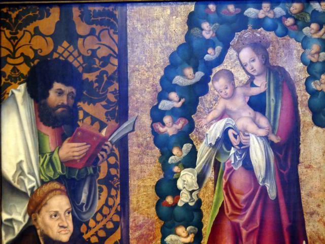 Lucas Cranach der Ältere: Friedrich der Weise in Verehrung der apokalyptischen Muttergottes, um 1515, Bild 2/3