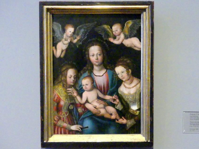 Lucas Cranach der Ältere: Maria mit dem Kinde und den Heiligen Katharina und Barbara, um 1512 - 1513