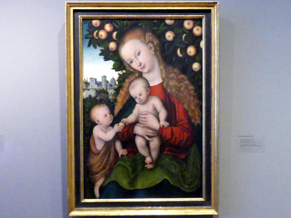 Lucas Cranach der Ältere: Maria mit dem Kinde und dem Johannesknaben unter dem Apfelbaum, um 1535