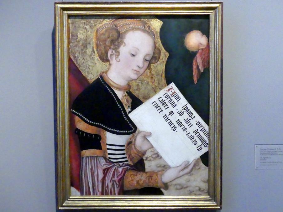 Lucas Cranach der Ältere: Hl. Agnes (?), 1520 - 1522
