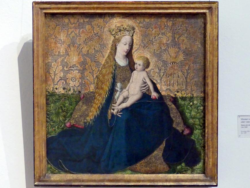 Maria mit dem Kind auf dem Rasen, um 1460