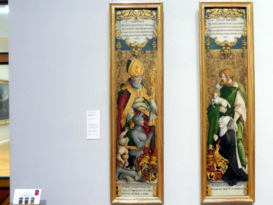 Meister von Meßkirch: Der Heilige Martin mit Bettler und dem Stifter Gottfried Werner von Zimmern, um 1538