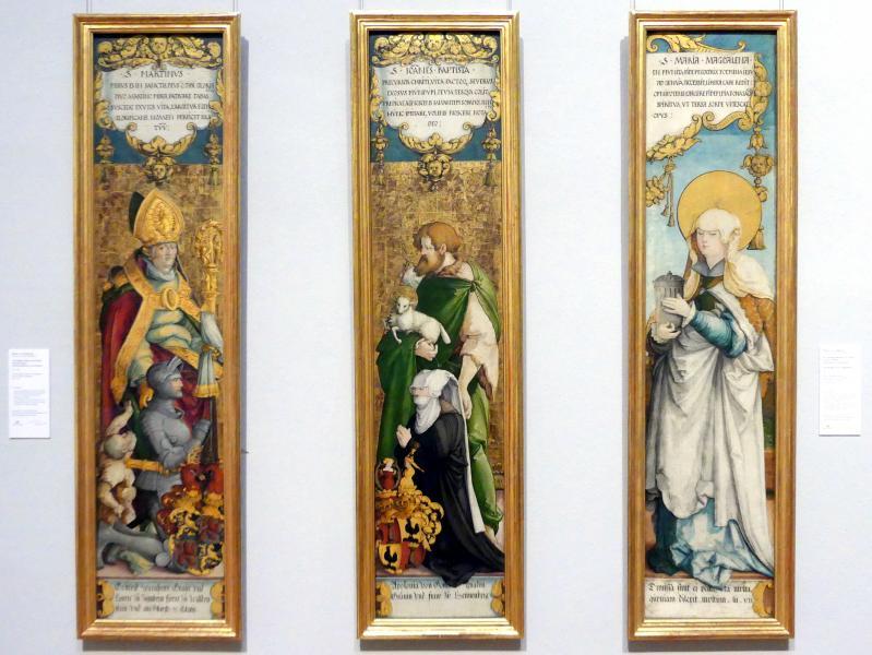 Meister von Meßkirch: Der Heilige Johannes der Täufer mit der Stifterin Apollonia von Henneberg, um 1538