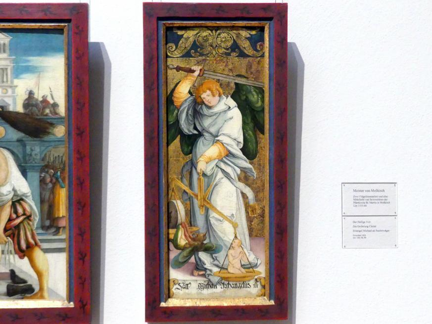 Meister von Meßkirch: Erzengel Michael als Seelenwäger, um 1535 - 1540