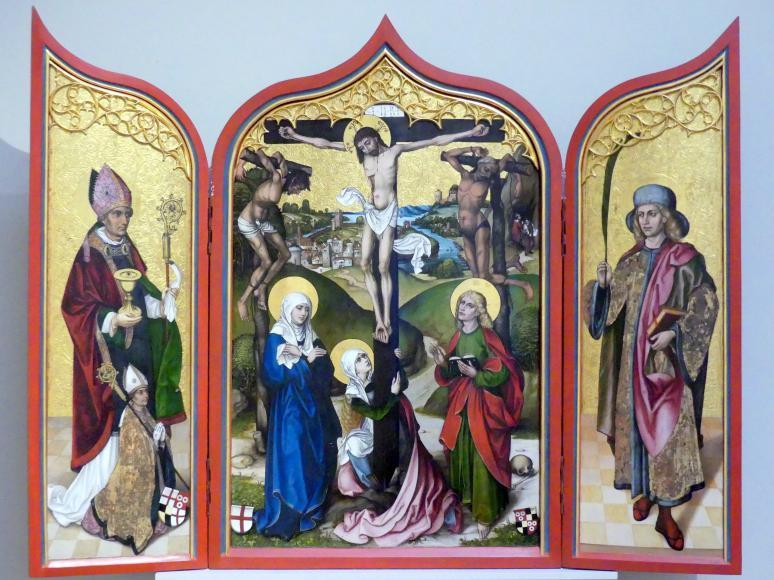 Michel Haider: Triptychon mit der Kreuzigung Christi, um 1500