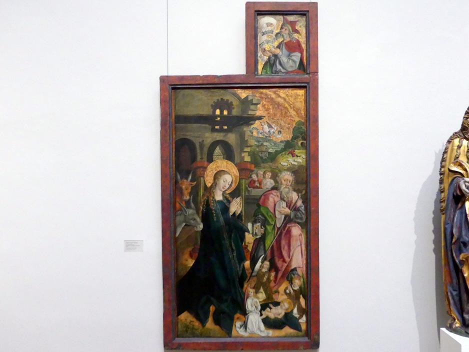 Die Geburt Christi mit Brustbild eines Propheten (Jeremias?), 1505