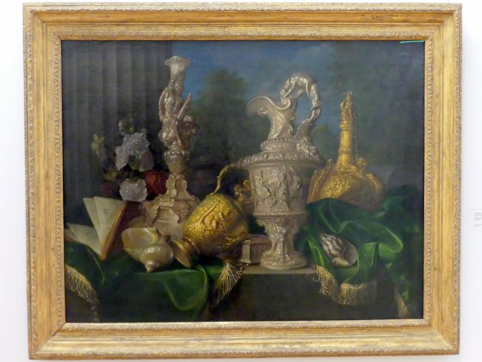 Meiffren Conte: Stillleben mit Silber- und Goldgefäßen, um 1670 - 1680