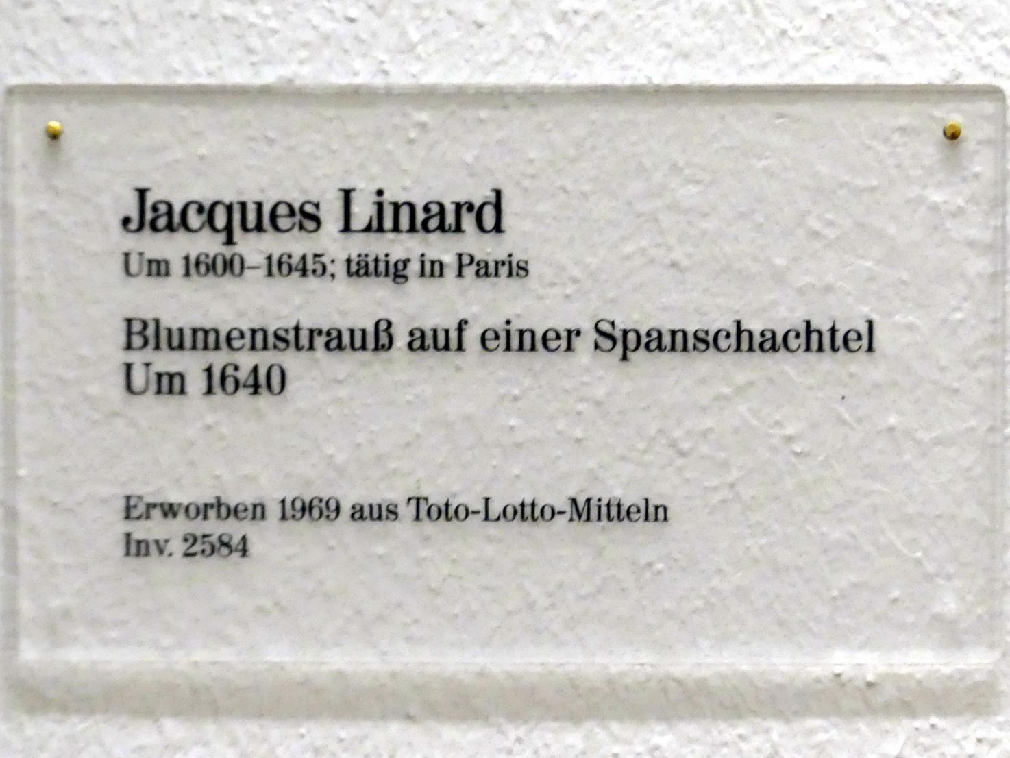 Jacques Linard: Blumenstrauß auf einer Spanschachtel, um 1640, Bild 2/2