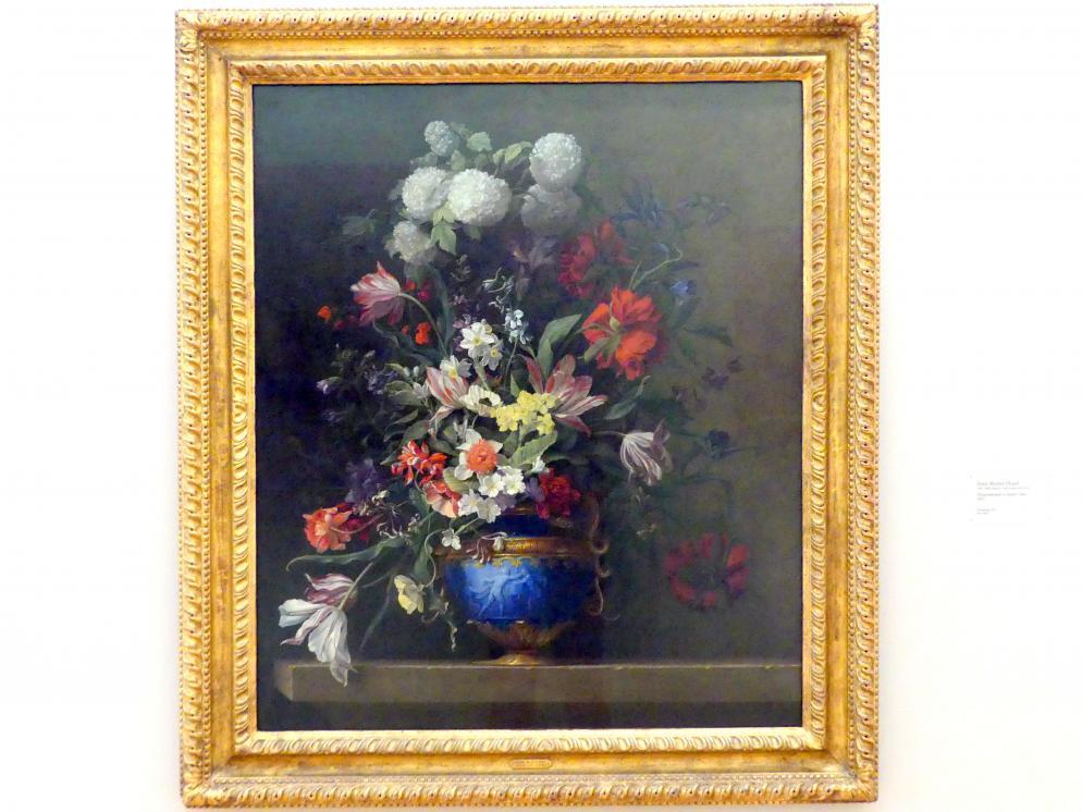 Jean-Michel Picart: Blumenstrauß in blauer Vase, 1653