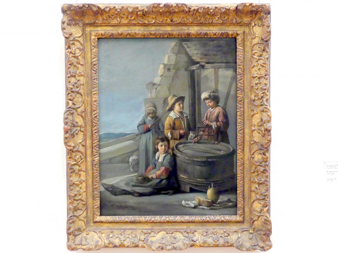 Louis Le Nain: Kinder mit Vogelkäfig und Katze, um 1645
