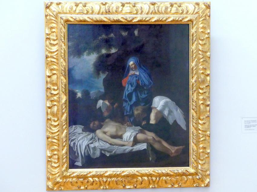 Bertholet Flémal (Flemalle): Maria mit dem toten Christus und klagenden Engeln, um 1650