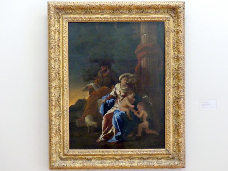 Nicolas Poussin: Die Heilige Familie mit dem Johannesknaben, um 1628 - 1629