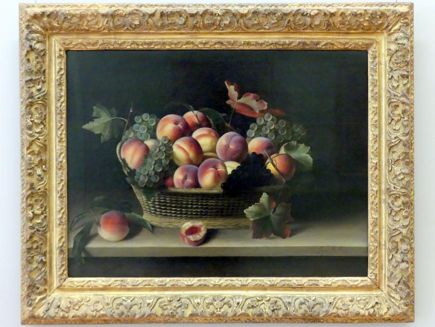 Louise Moillon: Korb mit Pfirsichen und Trauben, 1631
